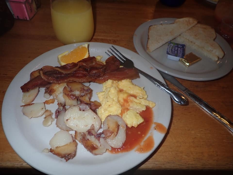 """Plate of food from The Sunflower Bakery and Cafe in Galveston.   Adult Weekend in Galveston, Texas; on """"The Strand"""""""