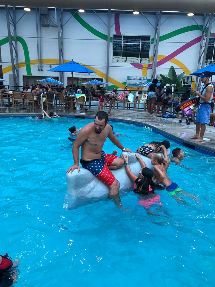 People swimming in the Swimming Hole at Epic.| Epic Waterpark in Dallas, Texas