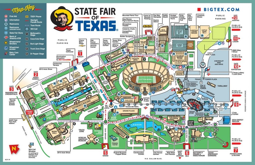 Map of the State Fair of Texas.| State Fair of Texas-Dallas