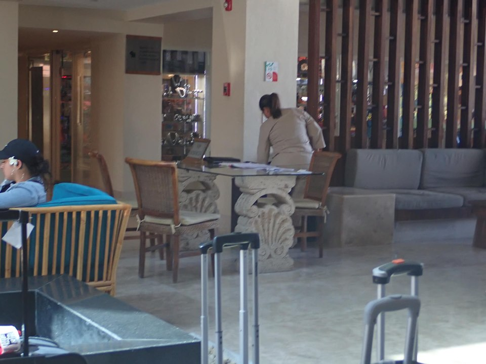 Timeshare lobby at Reflect Krystal in Cabo.   Cabo, Mexico- The Best All Inclusive Vacation