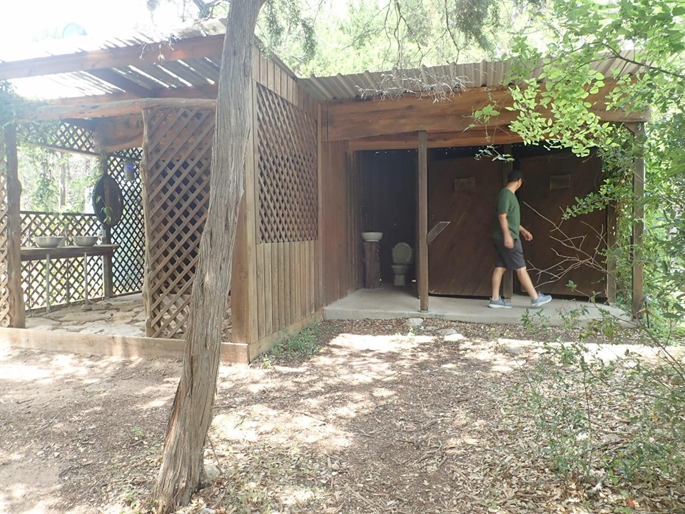 Outdoor restrooms at Cypress Valley. | Cypress Valley Canopy Tour in Austin, Texas