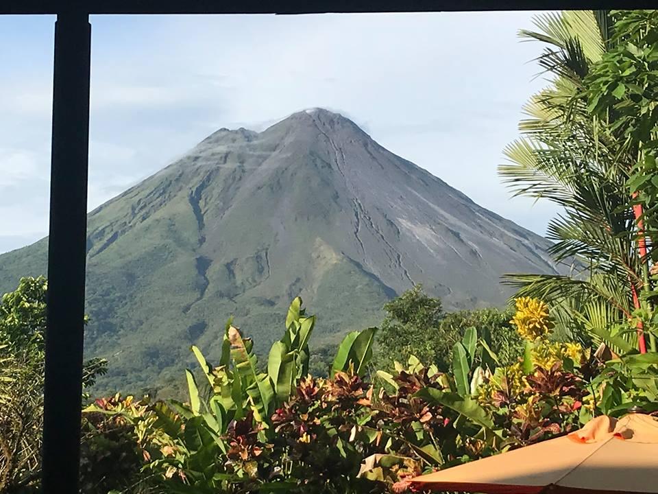 View of volcano at the Villas at Nayara Spa and Gardens in La Fortuna.   Costa Rica, Arenal Volcano