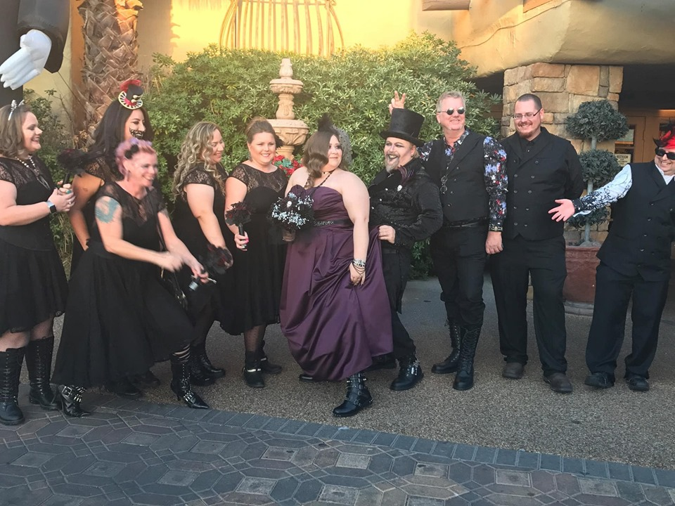 Group of people from the Viva Las Vegas Halloween Wedding show.| Las Vegas- A Guide to Vegas