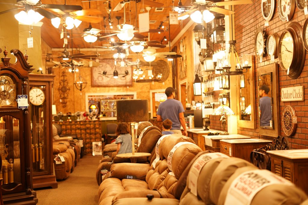 People shopping in the Wagon Yard store.   A Guide to Granbury, Texas