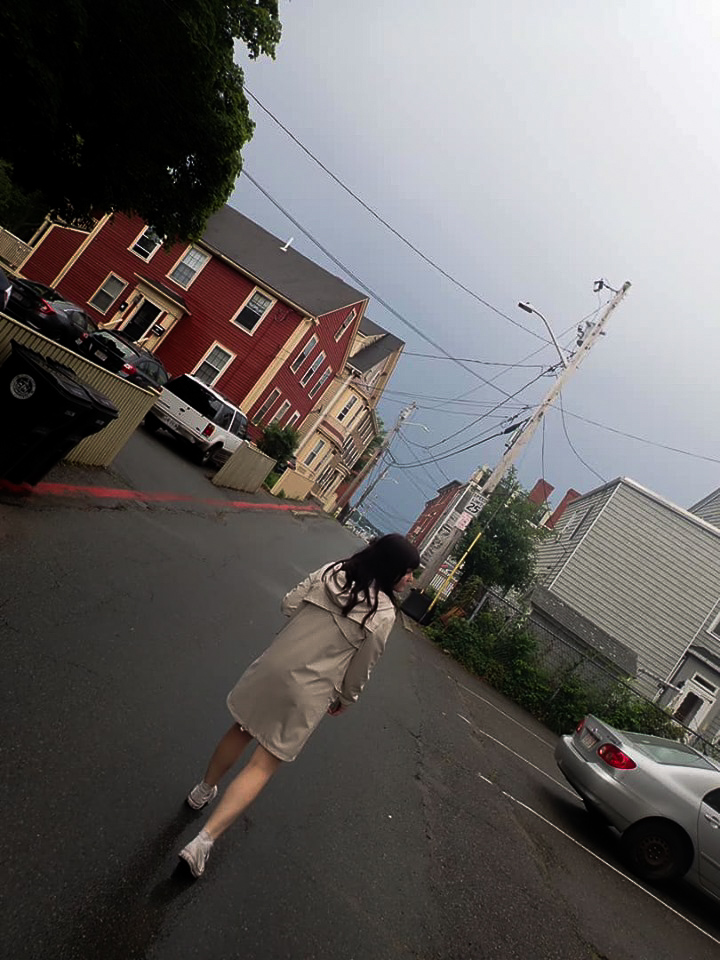 Girl walking the streets of Salem. | What to do in Salem, MA