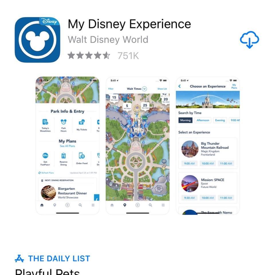 Walt Disney World app My Disney Experience.   Celebrating A Wedding Anniversary at Walt Disney World