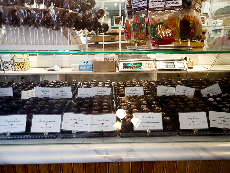 Candy displays inside the Ye Olde Pepper Companic, the oldest candy company, in Salem. | What to do in Salem, MA