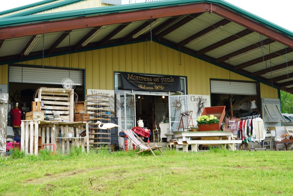 Front of the building at the outdoor market. | First Monday Trade Days in Canton, Texas