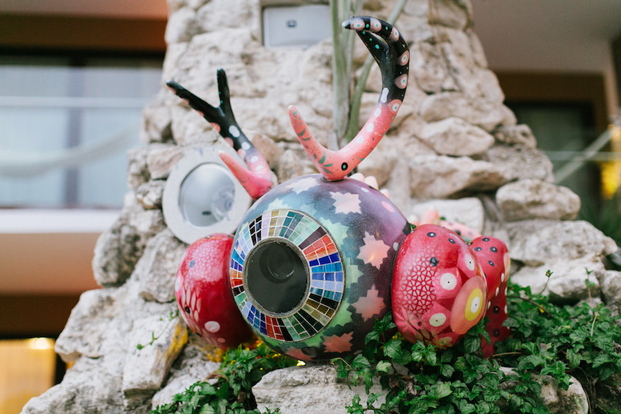 Crab-shaped camera in front of resort.| All About XeI-Ha Park in Riviera Maya