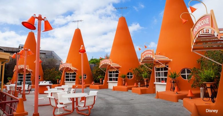 Outside view of Cozy Cone Motel in California Adventures in Disneyland.   Disneyland Resort Hotels, Anaheim; What you need to know.