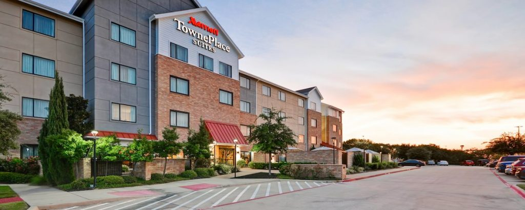 Outside view of TownePlace Suites by Marriott, Dallas Lewisville. | Weekend in Dallas with Kids