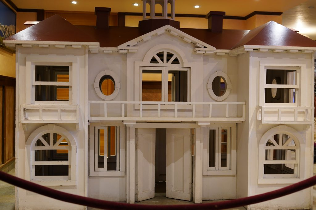 Model dollhouse of the Shining hotel.   Stay at Stephen King's The Shining Hotel - Also known as the Stanley Hotel