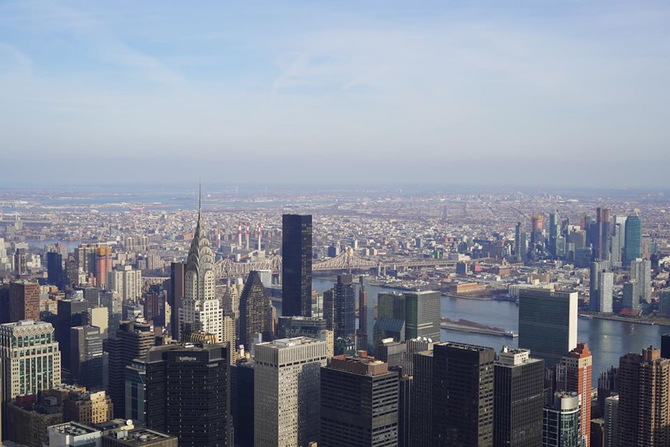 View from the Empire State Building Observatory.   New York City