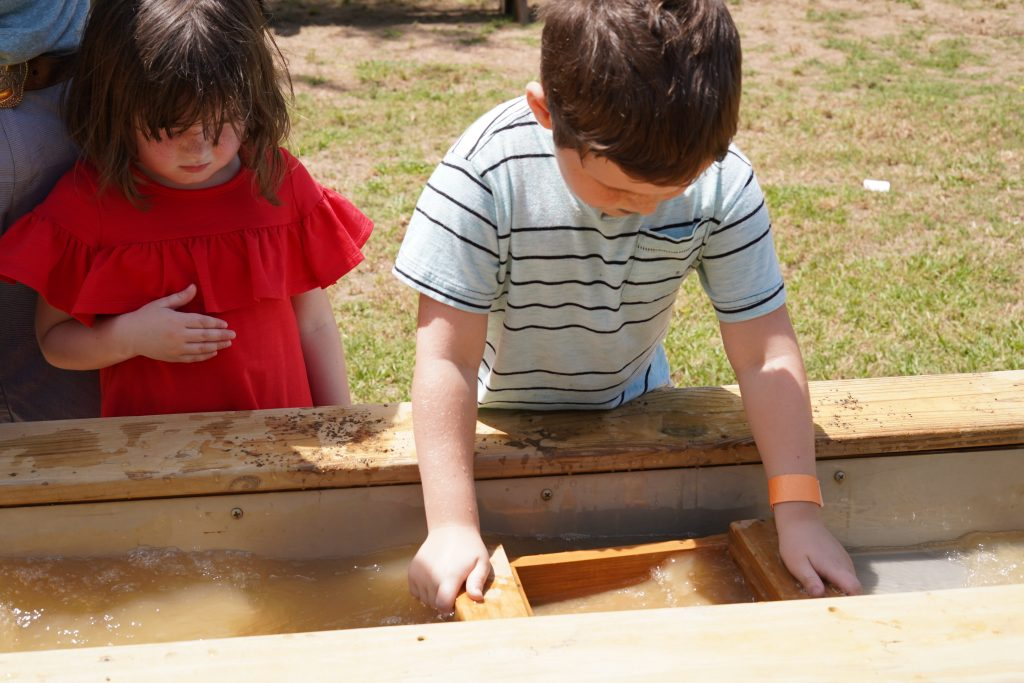 Kids gem mining at Blessington Fields. | Blessington Farms in Simonton, Texas