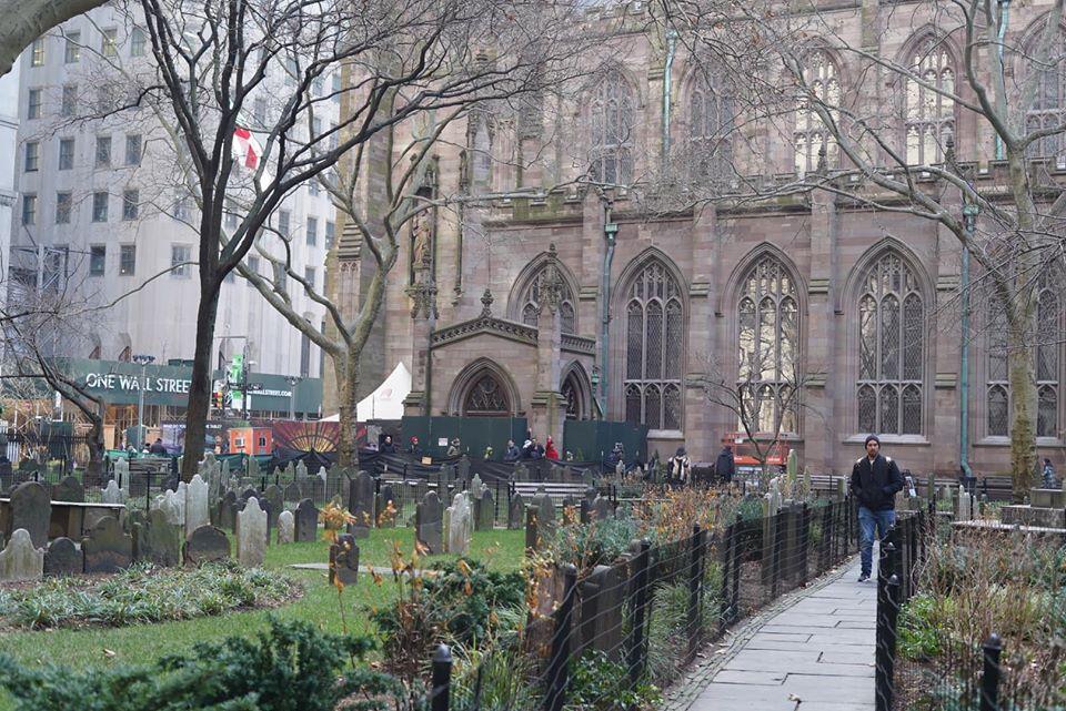 Graves at the Trinity Church Cemetery.   New York City