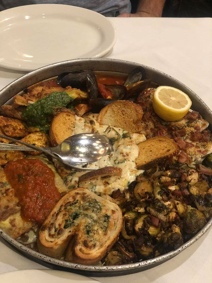 Plate of hot appetizer food from Carmines in New York.   New York City