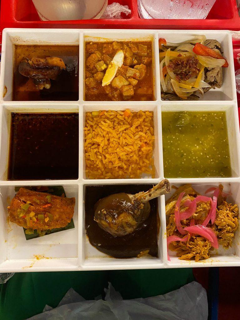 Main course platter of food. | XOXIMILCO Cancun, Mexico