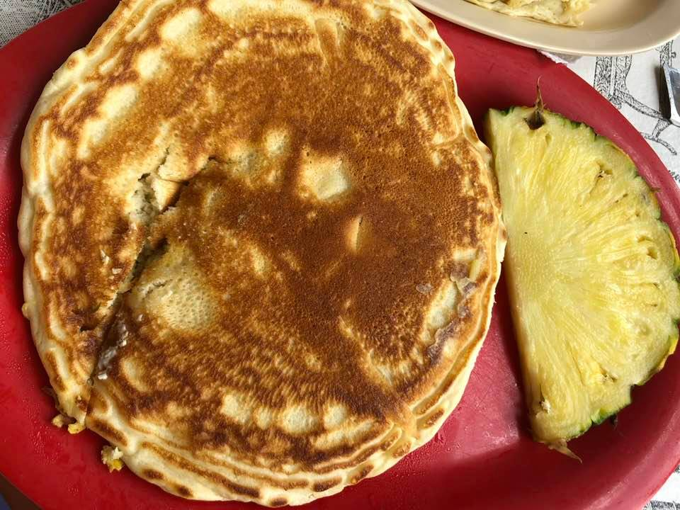Plate of pancakes at the Nutshell Eatery.   A Guide to Granbury, Texas