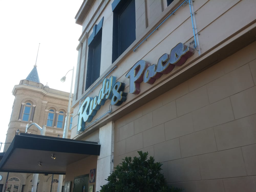 """Outside view of Rudy and Paco's in Galveston.   Adult Weekend in Galveston, Texas; on """"The Strand"""""""