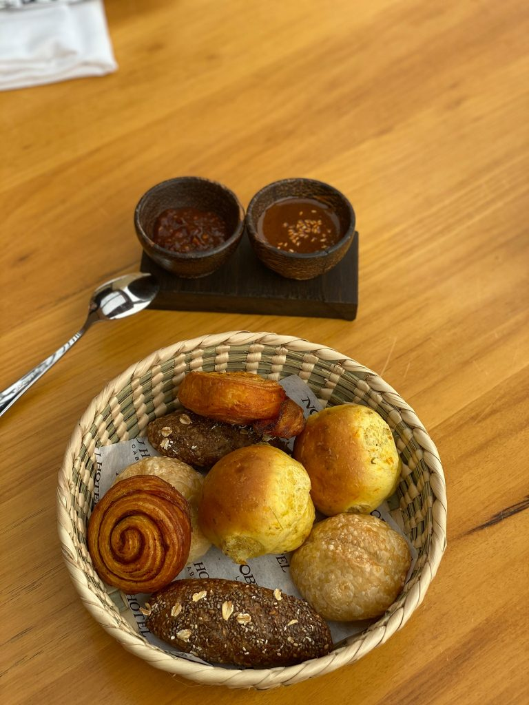Breakfast muffins.| A Guide to Nobu Hotel Los Cabos - A Relaxing Girls Trip