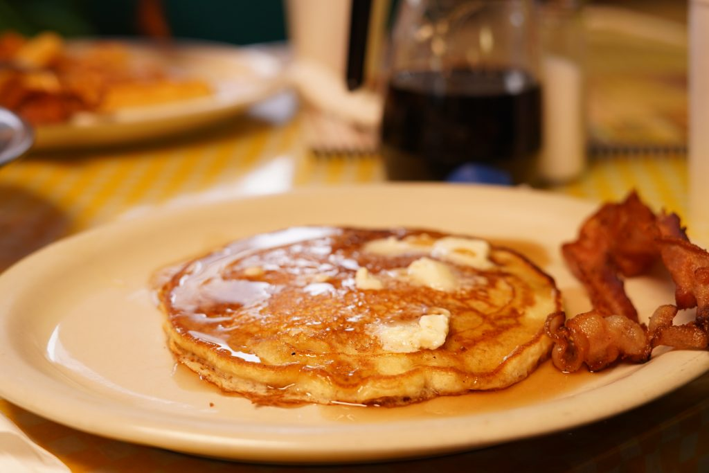 Plate of pancakes at El Gallo de Oro restaurant in Granbury.   A Guide to Granbury, Texas
