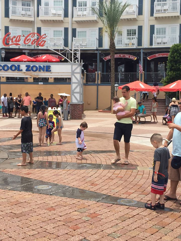 People playing in the water at the Cool Zone at Kemah Boardwalk. | Kemah Boardwalk in Texas