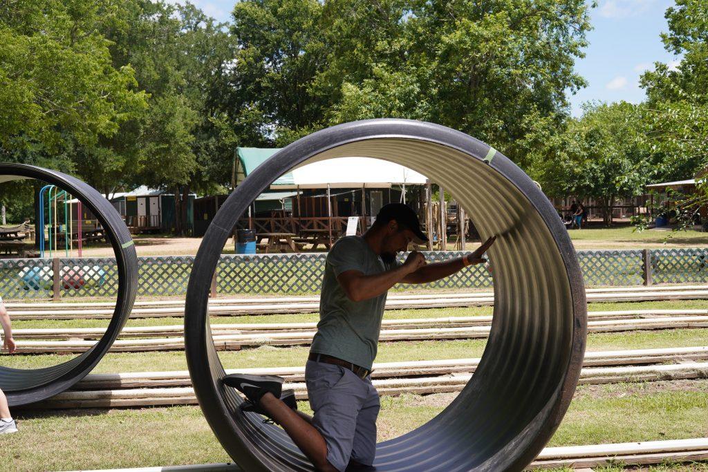Rat race game at Blessington Fields. | Blessington Farms in Simonton, Texas