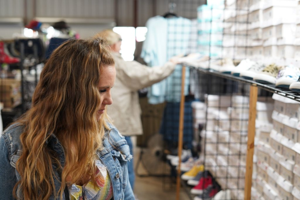 Woman shopping in store. | First Monday Trade Days in Canton, Texas