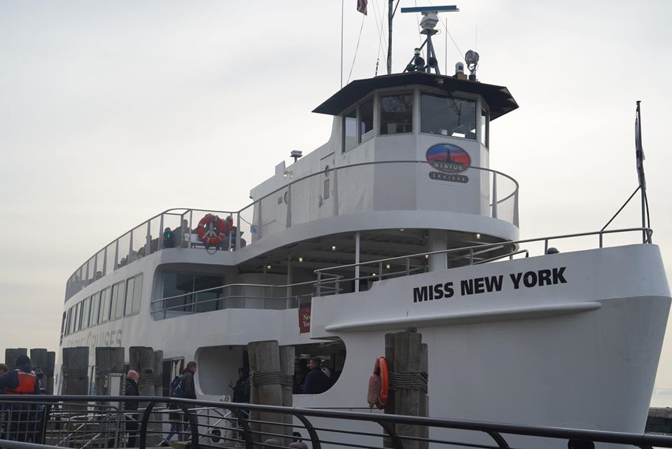 The Miss New York cruise ship for Statue of Liberty cruises.   New York City