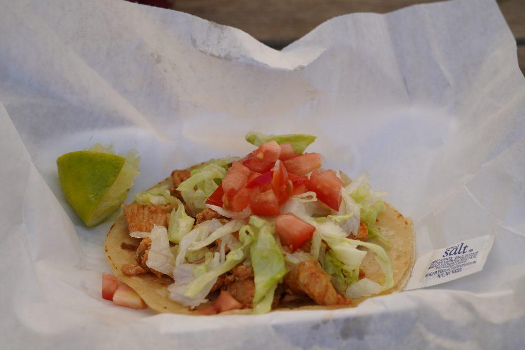Taco on platter at Blessington Fields. | Blessington Farms in Simonton, Texas