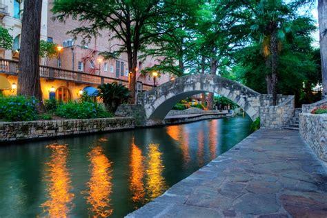 View of the Riverwalk in San Antonio.   Week in San Antonio, Texas