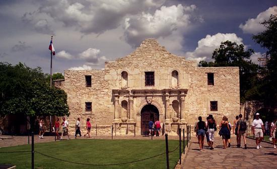 View of the outside of the Alamo in San Antonio.   Week in San Antonio, Texas