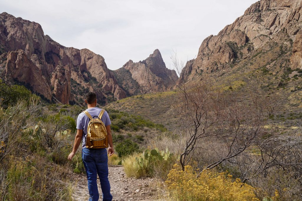 Man walking on the trails at Big Bend. | Big Bend National Park 1-Day Itinerary