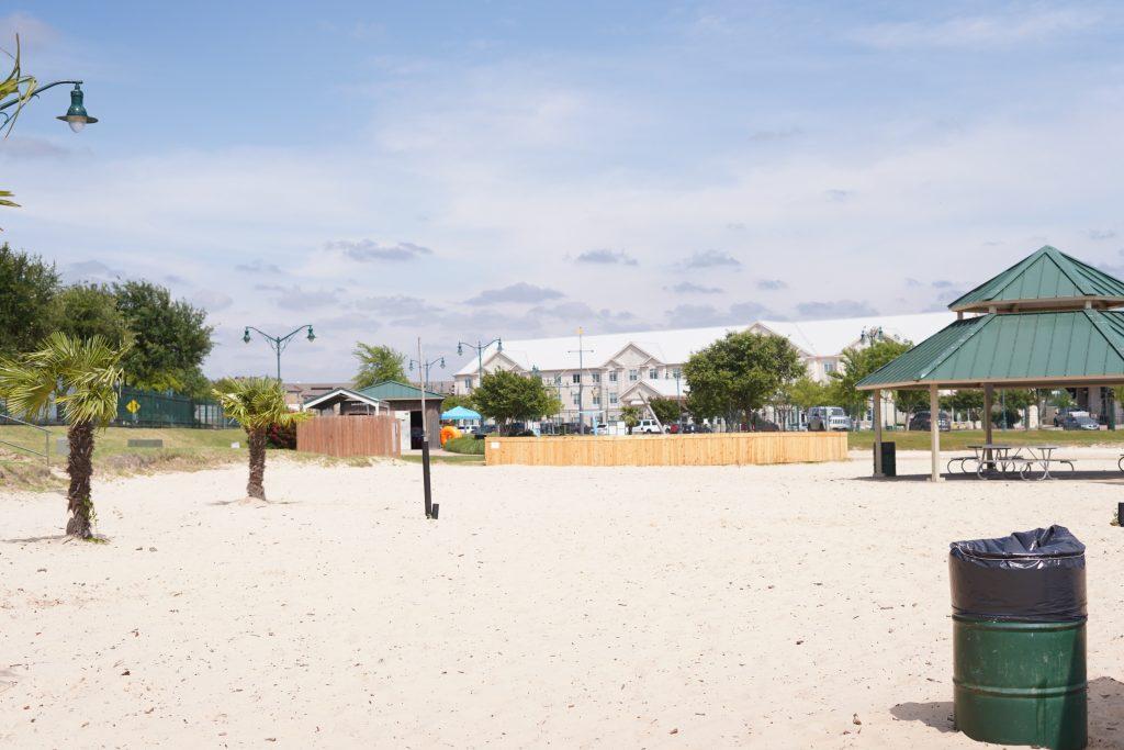 View of the Granbury City Beach Park picnic area.   A Guide to Granbury, Texas